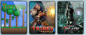 Tribes Ascend Terraria and Ninja Blade by Zakafein