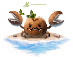 Daily Paint #1275. Coconut Crab by Cryptid-Creations