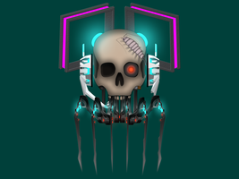 Crash System Android Skull by Alice-In-Mikucup