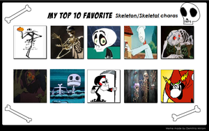 Top 10 Skeleton-Characters by KessieLou