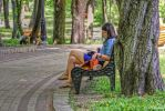 Girl Reading in the Park Updated by t-maker