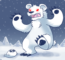 Goofy Polar Bear Attack by raizy