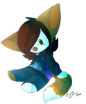 Chibi Plush example: Frostbite by Freeze-pop88