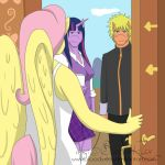 Equestrian Heroes Interviewing Fluttershy by TheRealKyuubi16