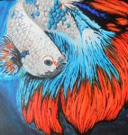 Samurai Fighting Fish by exclamitorycyclops