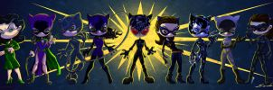 THE NINE LOOKS OF CATWOMAN by Arterik