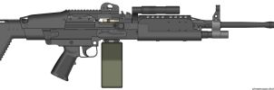 Crysis 2 Mk60 Mod0 Light Machine Gun by Scarlighter