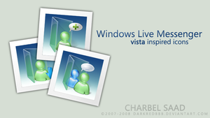 WLM Vista Inspired Icons by darkredbbb