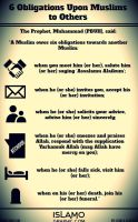 6 Obligations Upon Muslims to Others by islamographic