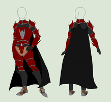 Private Custom - Red Armor by ShadowInkAdopts