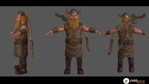 Commission:  Viking Archer (low poly 3k) by CoolBoysEnt
