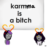 Karmma is a bitch XD (doodle and lazy) by Karen-Donna