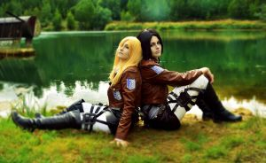 Ymir and Historia by MarinaArens
