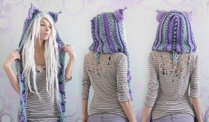 Purple Haze kitty hood! by Archaical