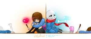 Sans and Frisk by Miriam-Moon