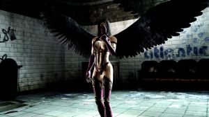 Mileena with wings by WitchyGmod