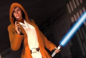 The Jedi Girl by bdy