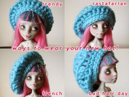 now serving up monster high slouchy hats by hellohappycrafts