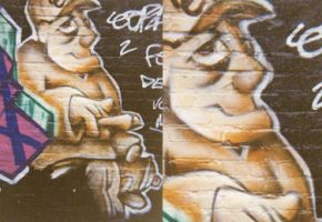 duotone caracter graffiti nr.1 by Leconte