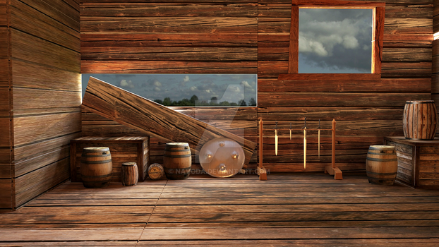 Old Wood House 3D by Navoda