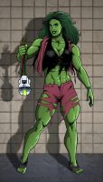 She-Hulk by MikeMcelwee