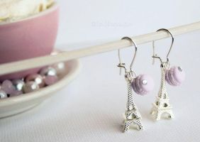 Handmade Miniature French Macaroons Pastel lilac by LaNostalgie05