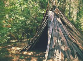 Wooden Tipi by theworst24