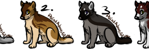 Wolf Adoptables 2 - CLOSED by CreatureCreatingBabe