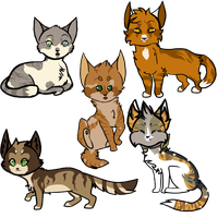 Kitten Chibis by SpottedCrows