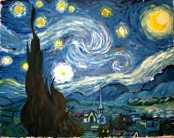 Starry Night study by KingAgrian
