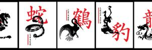 Shaolin 5 Animals by hangingghost