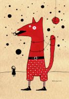 red dog by maskpicasso