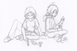 Gift for Metair--Chalk Sketches by sonictheonlyhedgehog