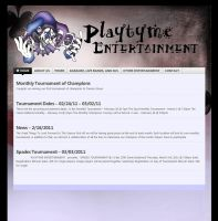 playtyme entertainment website by JayFoxki
