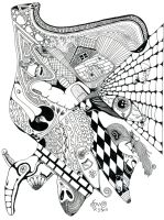 is this a Zentangle by wiccanwitchiepoo