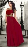 Maroon Evening Gowns by SHIRLEYSIMMONS