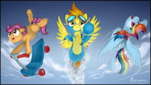 Pegasi Team by Tetrapony