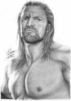 Triple H Pencil Drawings by Chirantha