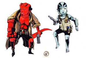 Hellboy and Abe Sapien by Oikeus