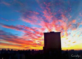 sunrise in the city by conelyn