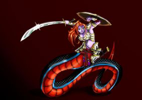 Coloring Contest: Lamia by Rozen-Guarde