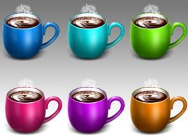 Coffee cup icons by FreeIconsFinder