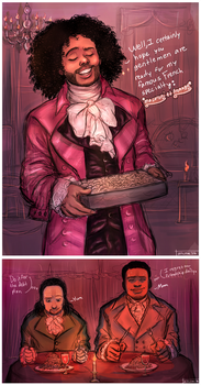 Jefferson approaches with a dinner and invite by cupcakeninja11