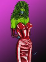 She-Hulk can't go to the Ball by gustorak