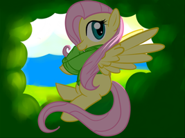 Fluttershy Through  The Alcove by TheRebelPhoenix