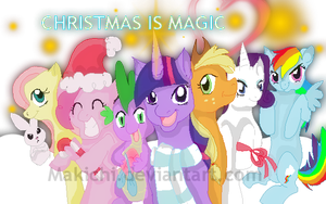 MLP FIM: Merry Christmas by Makichi