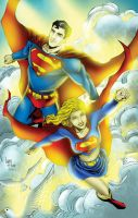 Super Family in the clouds by Ta2dsoul