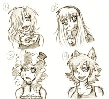 Spooky Girls Adoptables by meg15warrior