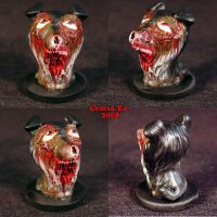 Zombie Rough Collie Ooak  dog by Undead-Art