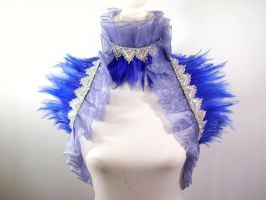 Feather Shoulder Wrap blue by nashimiron